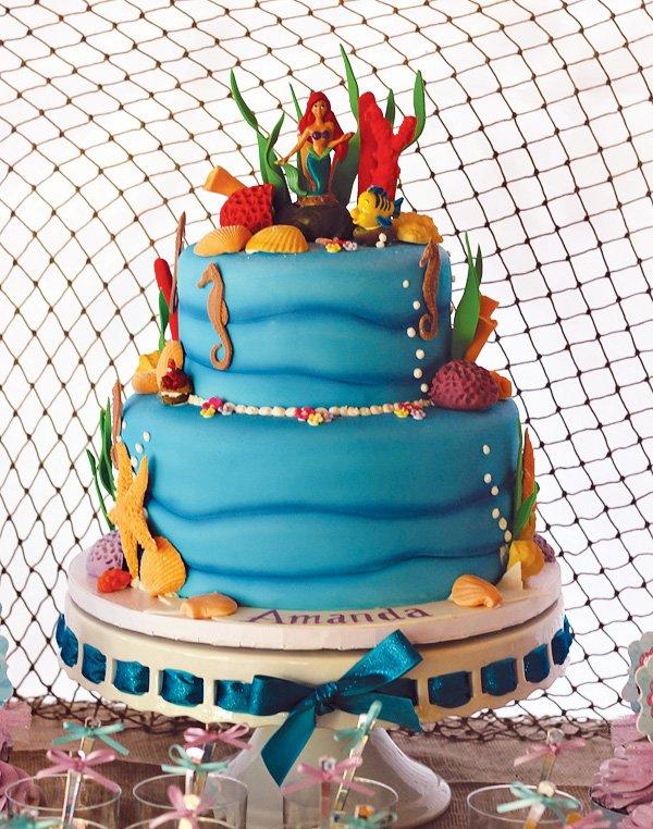 the little mermaid birthday cake