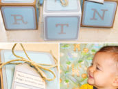 diy alphabet block party favors and smash cake