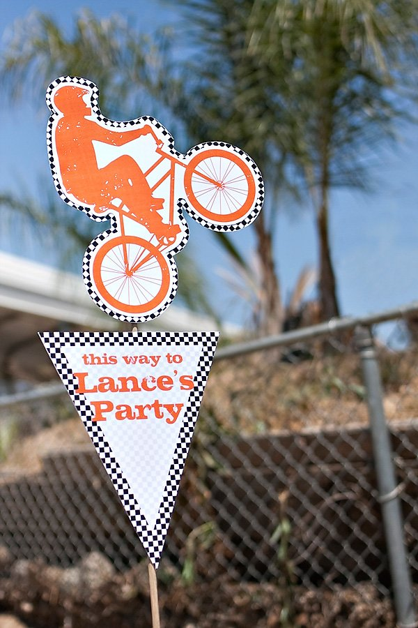 bmx birthday party printable welcome sign