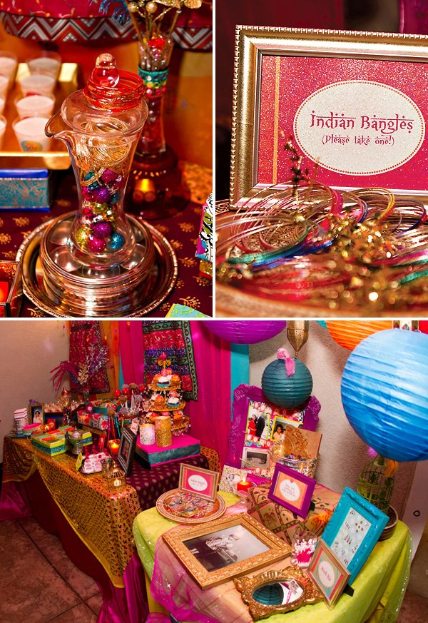 bollywood birthday indian bangles station and decorations
