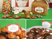 holicay cookie exchange hot cocoa bar with macarons and s'mores cookies