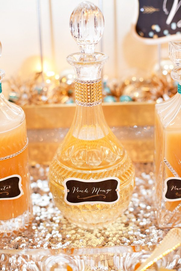 crystal decanters for mixers to go with Michelle Sparkling Wines on New Years Eve