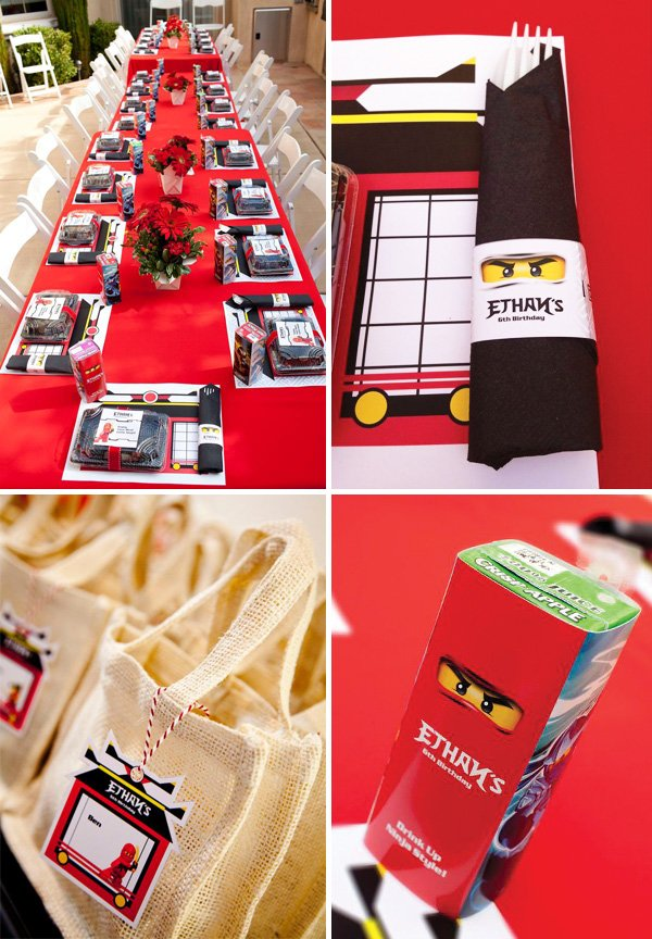ninjago lego custom party printables for a boy's ninja birthday party