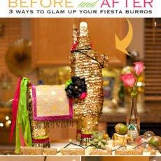 DIY Gold Pinata - Glam Fiesta Party Decor