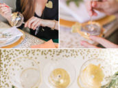 DIY make your own gold leaf champagne glasses