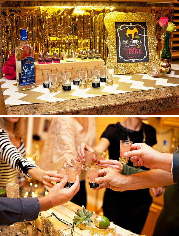 the tequila bar at the fiesta used sauza tequila and sparkling mixers - cheers!