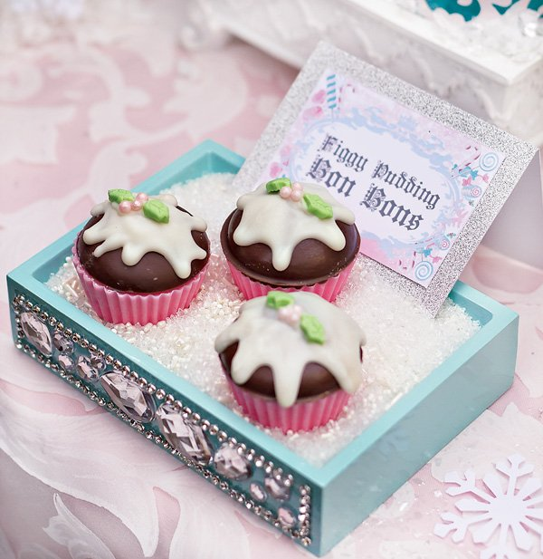 figgy pudding bon bons for a sugarplum fairy nutcracker birthday party