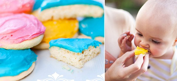 colorful frosted sugar cookies