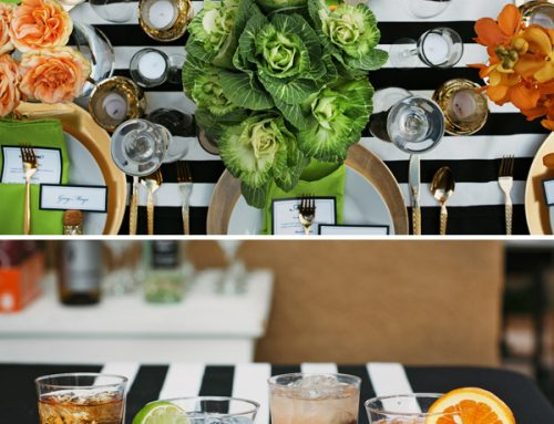 Fresh & Sophisticated Dinner Party {Black, White & Gold}