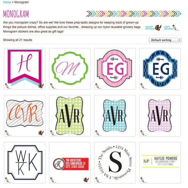 kidecals custom monogram stickers