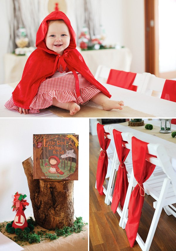 little red riding hood baby birthday party