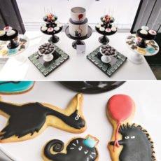 mod party animal dessert table