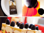 ninja themed party desserts and decor (Chinese hanging lanterns)