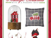 nostalgic red and gray christmas decor