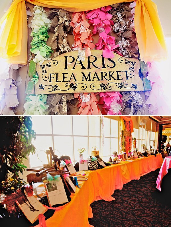 paris flea market silent auction for a charity event