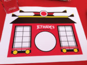 personalized japanese ninja placemats for a boy's ninjago birthday party