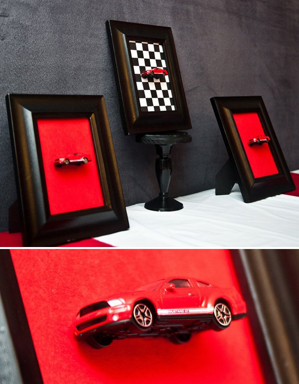 diy race car party wall decorations