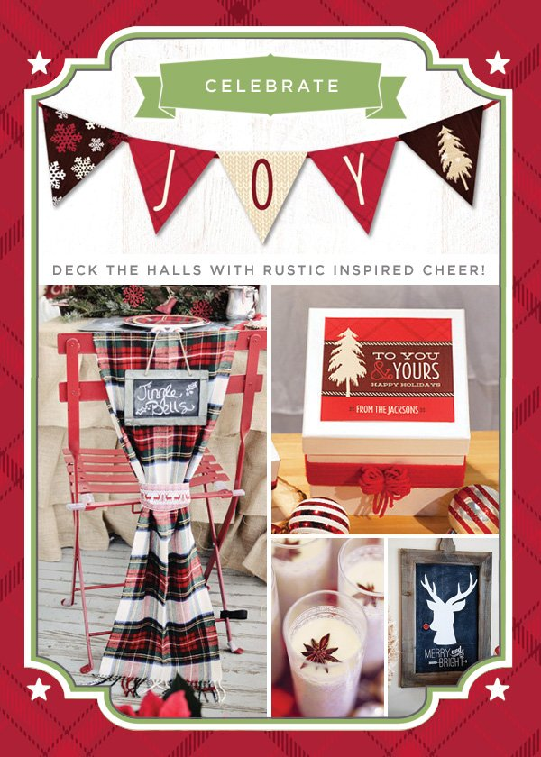 rustic plaid christmas party ideas