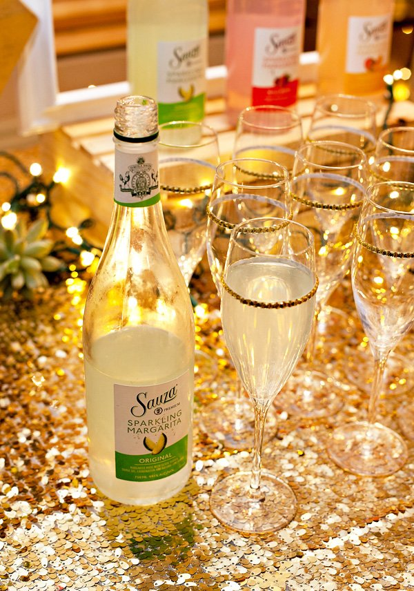 HWTM hosted a fiesta for sauza and served sauza margaritas in champagne flutes
