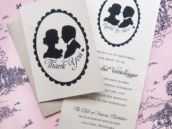 silhouette or cameo bridal shower invitations