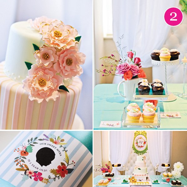 spring flowers tea party first birthday party