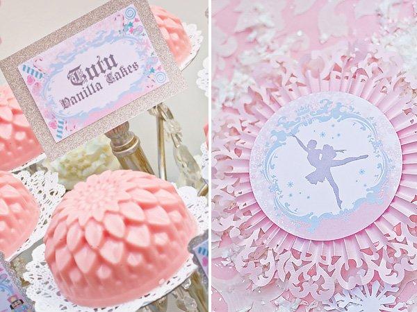pink tutu vanilla fairy cakes and ballerina printable decorations