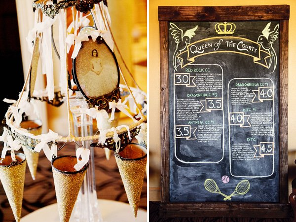 vintage paris party lampshade centerpieces and chalkboard sign