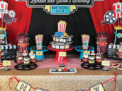 movie themed dessert table