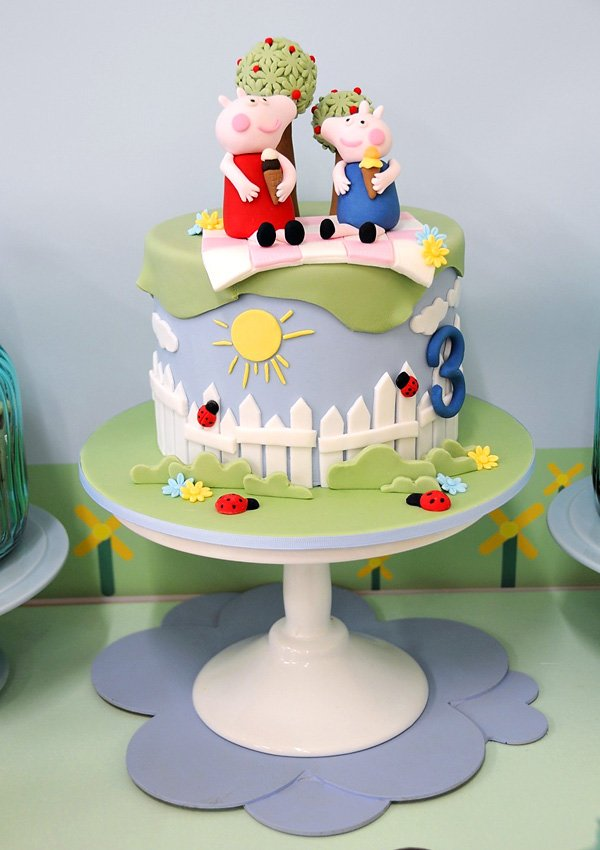 peppa pig birthday party cake