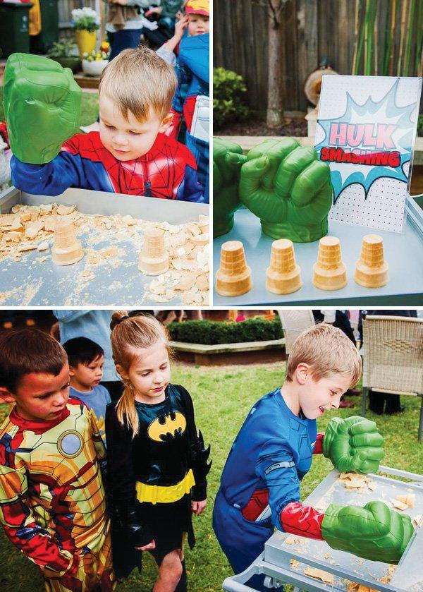 hulk smash birthday party game