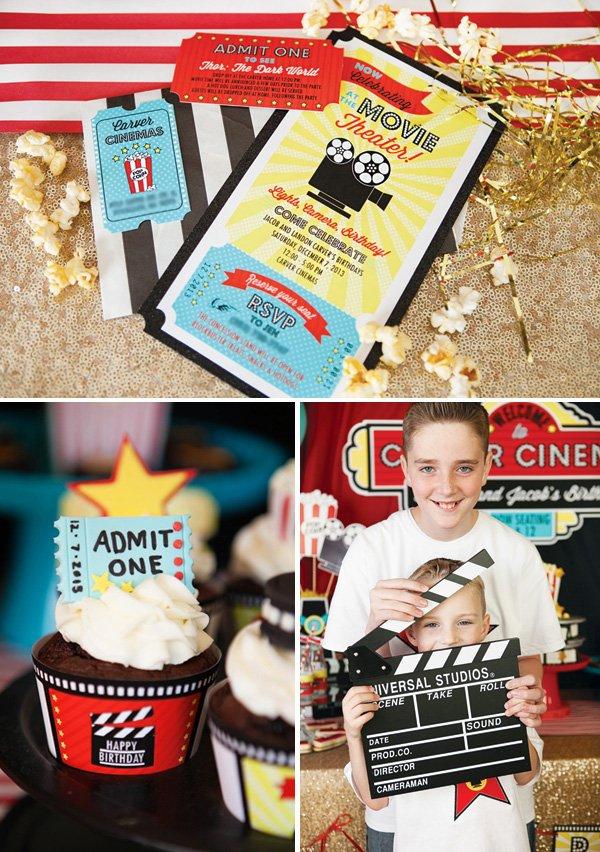 movie themed party ideas