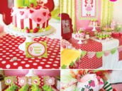 strawberry shortcake first birthday party
