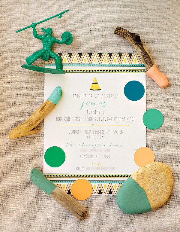 tribal print indian invitation