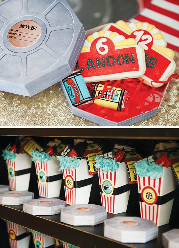 movie birthday party favors