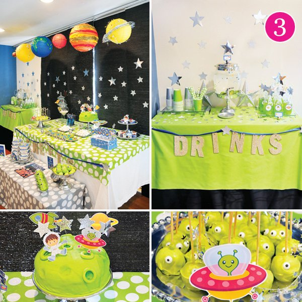 little astronaut boy's birthday party