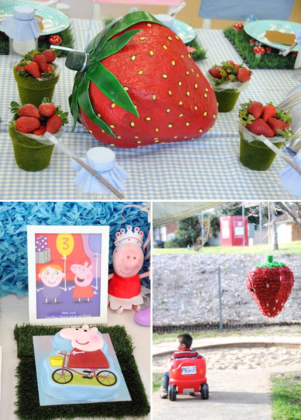 paper mache and pinata strawberry