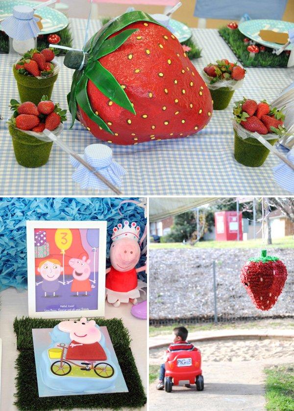 paper mache and pinata strawberry