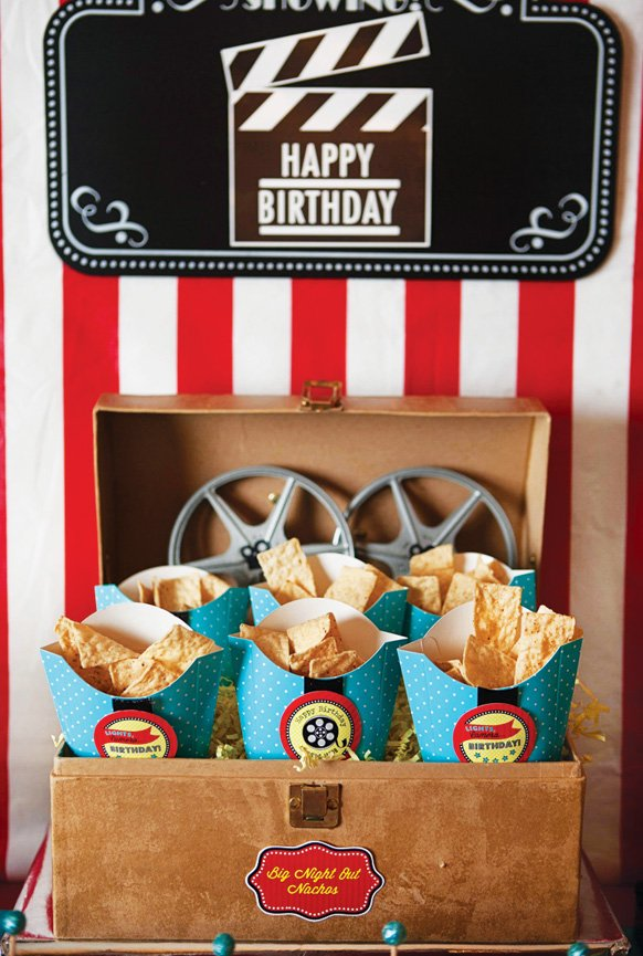 movie birthday party nachos