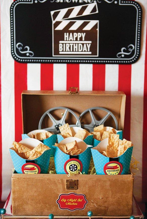 movie birthday party nachos