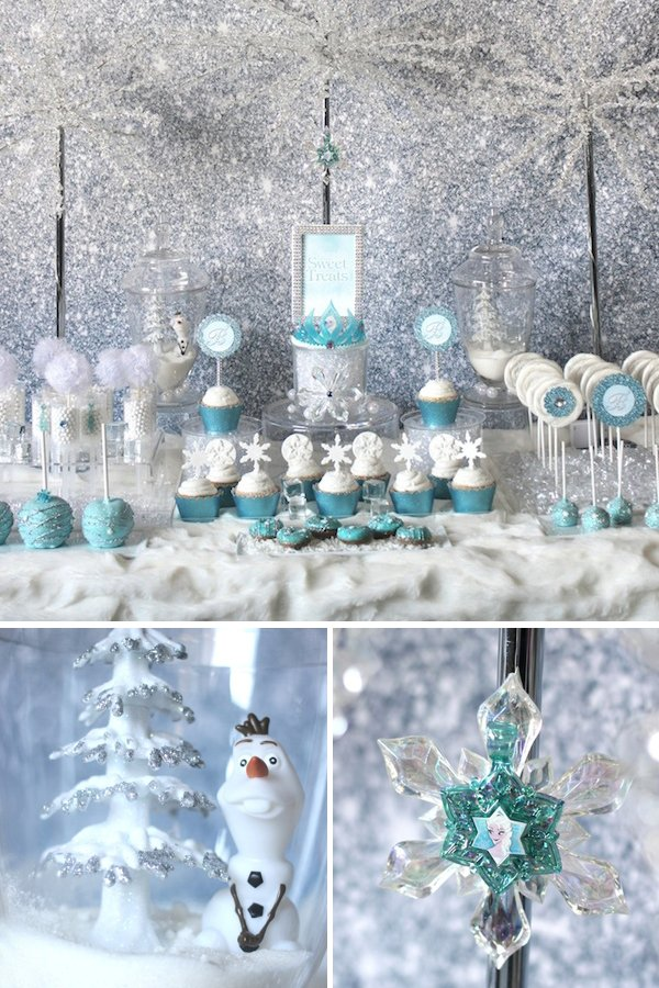 Trend Alert Frozen Party Sweets Table Hostess with the Mostess