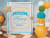 baby shower quote sign - blessings