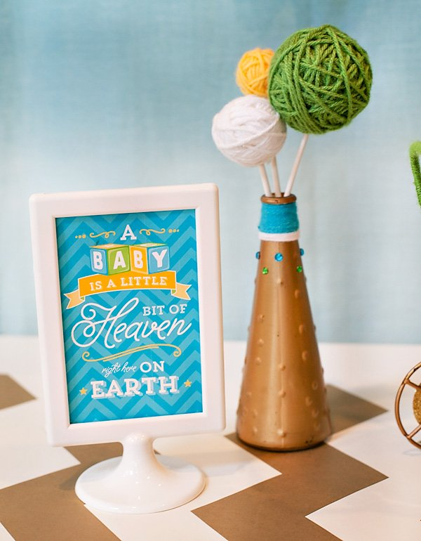 baby shower centerpiece sign - quote