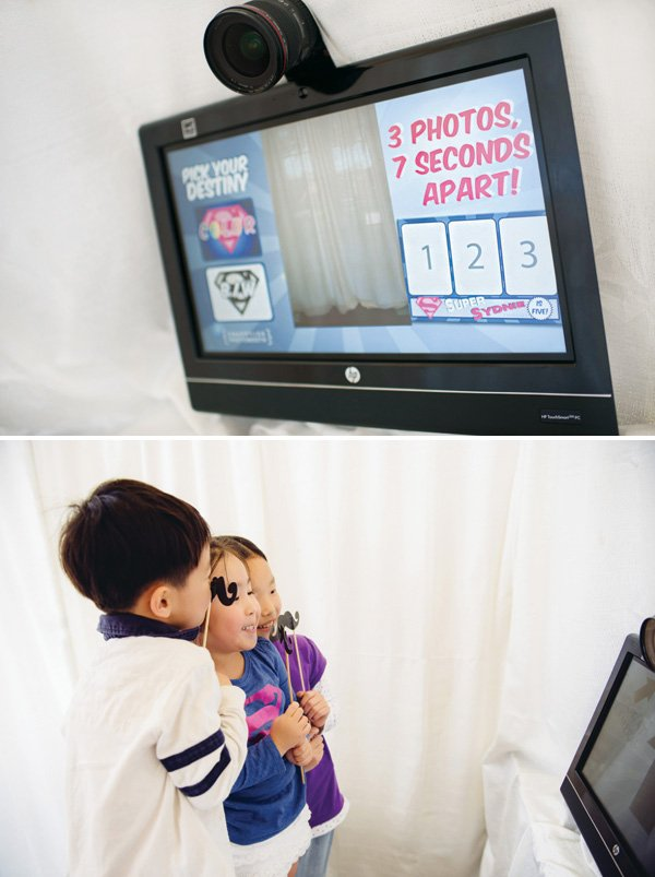 birthday party photo booth with props