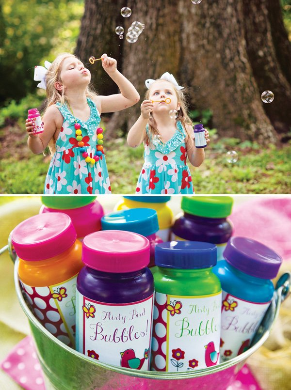 blowing bubbles birthday activity