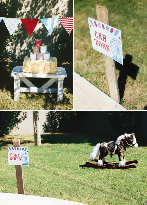 can toss and pony ride games