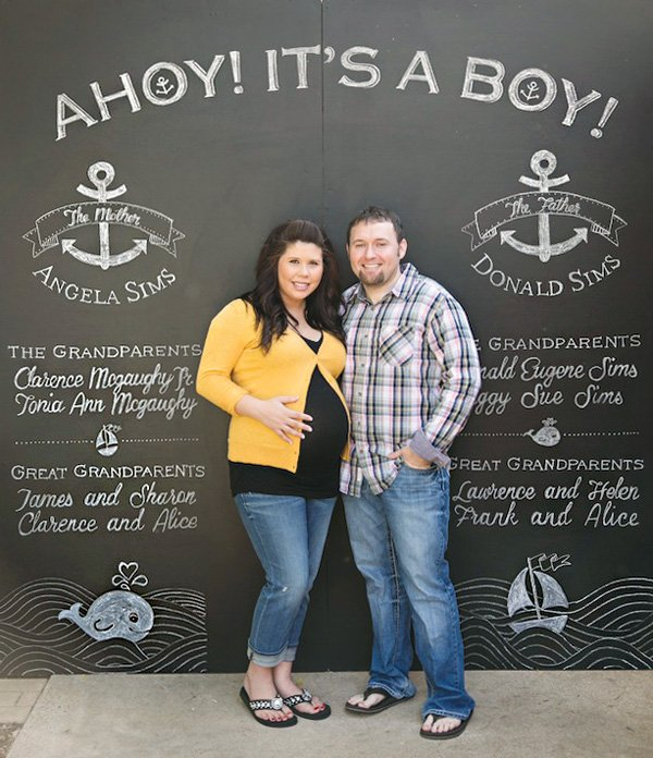 typography chalkboard photo booth backdrop