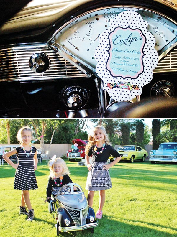 classic car birthday party invitation