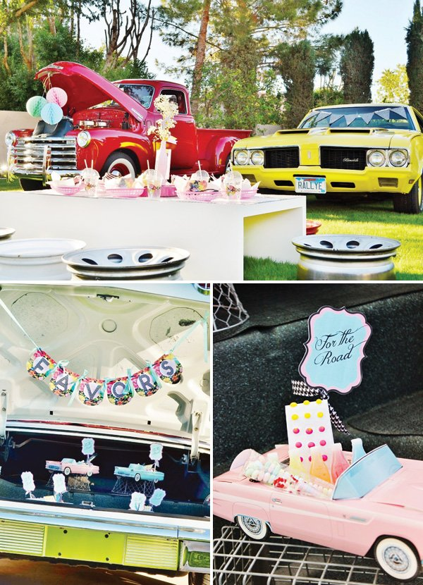 classic cars party favors