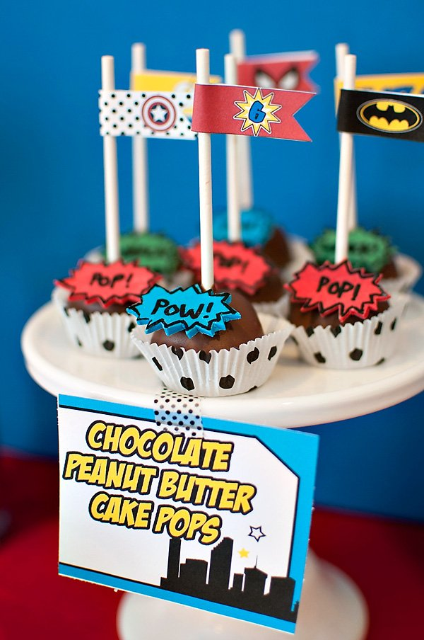 comic book pop art cake pops