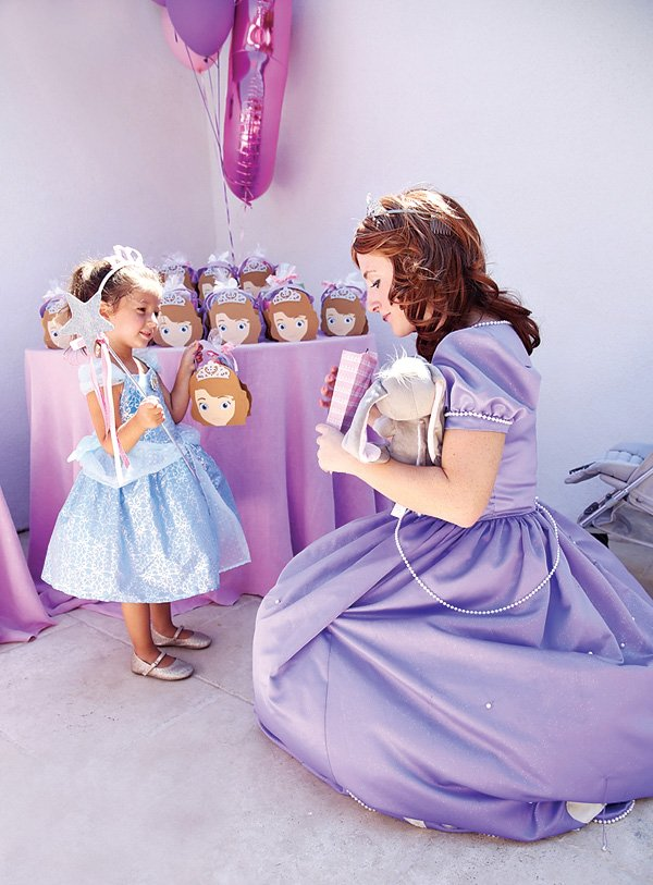 sofia the first birthday party - princess costumes and favors